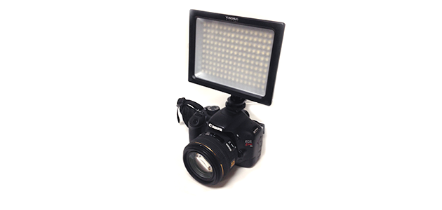 デジイチやビデオカメラに安くて明るい!フラッシュよりもむしろ使い勝手のいい外付けLEDライト「YN-160S」が気に入った!